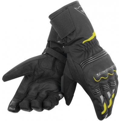 DAINESE rukavice TEMPEST D-DRY Long black/fluo yellow