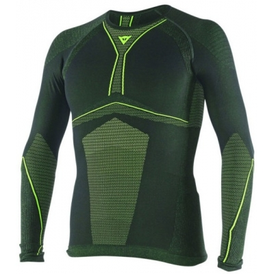 DAINESE termo triko D-CORE DRY LS black/fluo yellow