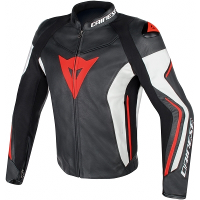 DAINESE bunda ASSEN black / white / fluo red