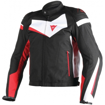 DAINESE bunda VELOSTER TEX black/white/red