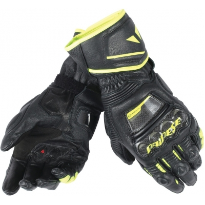 DAINESE rukavice DRUID D1 LONG black/black/fluo-yellow