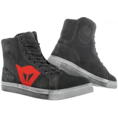 DAINESE topánky STREET BIKER D-WP carbon dark/red