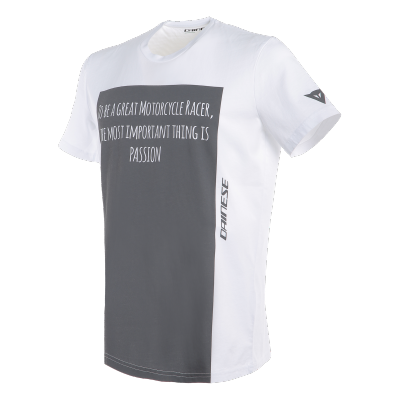 DAINESE triko RACER-PASSION white/anthracite