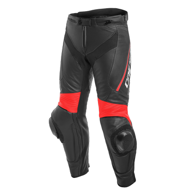 DAINESE kalhoty DELTA 3 black/black/fluo red