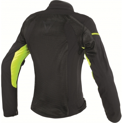 DAINESE bunda AIR FRAME D1 TEX Black / Black / yellow fluo dámska