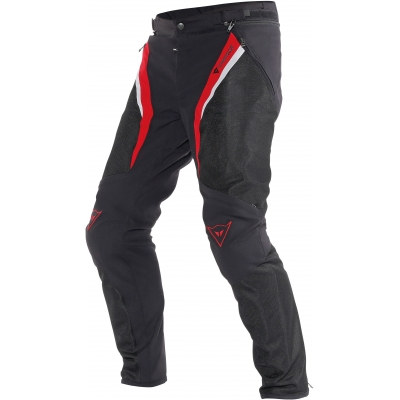 DAINESE nohavice DRAKE SUPER AIR TEX black / red / white