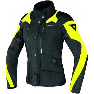 DAINESE bunda G. TEMPEST D-DRY LADY dámska black/black/fluo-yellow