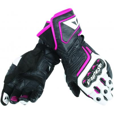 DAINESE rukavice CARBON D1 LONG dámské black/white/fuchsia
