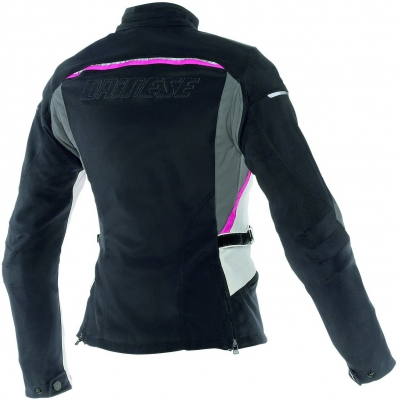 DAINESE bunda ARYA TEX LADY dámská black/dark gull gray/fuchsia