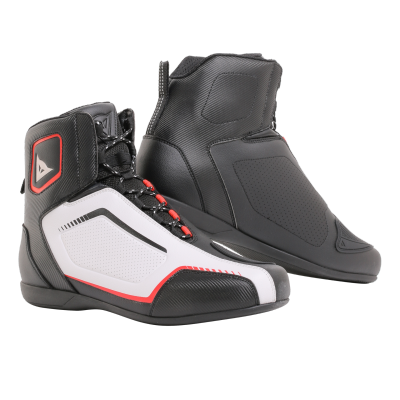 DAINESE boty RAPTORS AIR black/white/lava red
