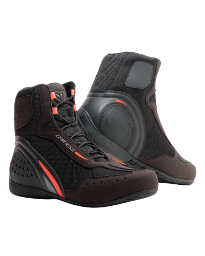 DAINESE boty MOTORSHOE D1 D-WP black/fluo-red/anthracite