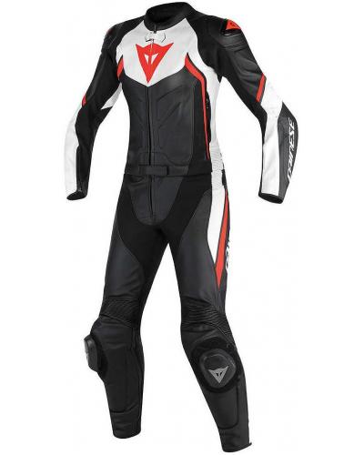 DAINESE kombinéza AVRO D2 2-dílná dámská black/white/fluo red