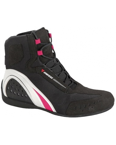 DAINESE topánky MOTORSHOE AIR LADY JB dámske black/white/fuchsia