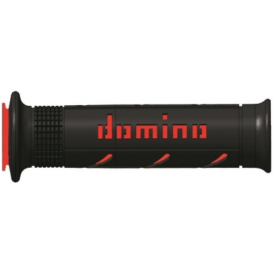 DOMINO rukoväte SOFT ROAD SuperSoft black / red