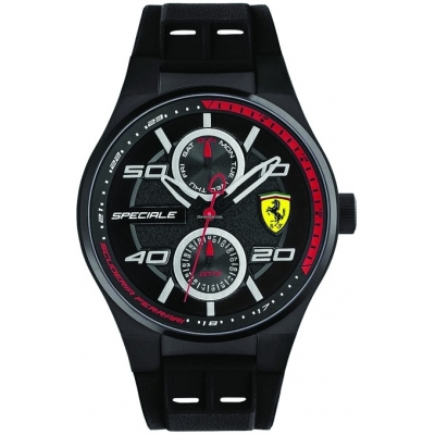FERRARI hodinky SPECIALE MULTIFUNCTION black/red