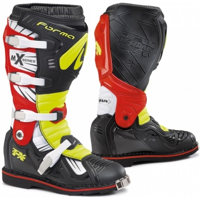 FORMA boty TERRAIN TX black/yellow fluo/red