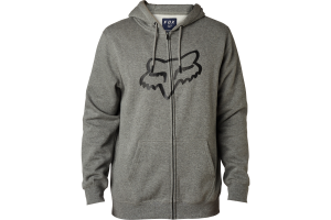 FOX mikina LEGACY FOXHEAD Zip heather graphite