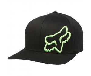 FOX kšiltovka FLEX 45 Flexfit black/green