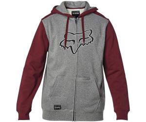 FOX mikina DESTRAKT Fleece grey / red