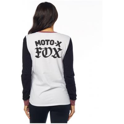 FOX triko MOTO X LS dámské white