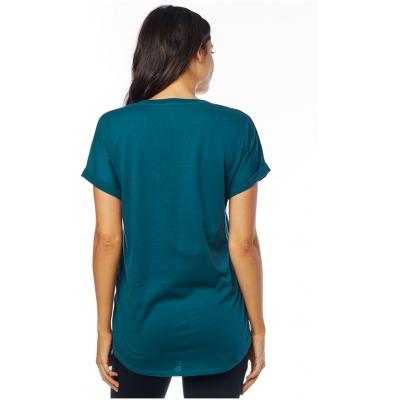 FOX tričko RESPONDED SS VNECK RL SLEEVE dámske jade