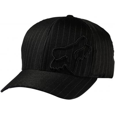 FOX kšiltovka FLEX 45 Flexfit black pinstripe