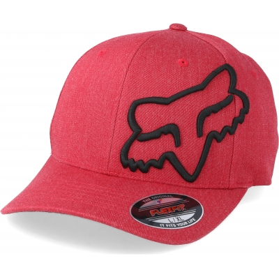 FOX šiltovka CLOUDED Flexfit cardinal