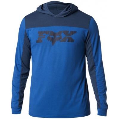 FOX triko s dlouhým rukávem GENERAL Hooded Tech royal blue