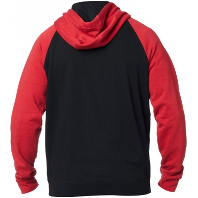 FOX mikina LEGACY Fleece black / red