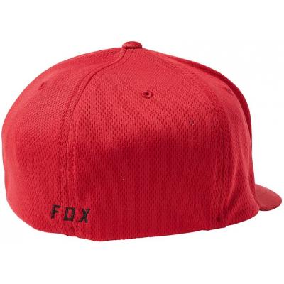 FOX kšiltovka LITHOTYPE Flexfit dark red