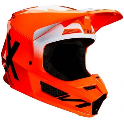 FOX přilba V1 Werd fluo orange