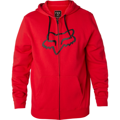 FOX mikina LEGACY FOXHEAD Zip dark red