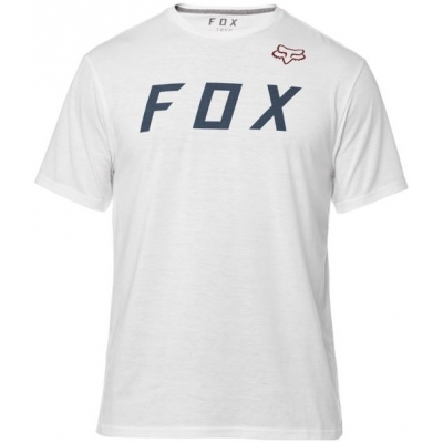 FOX triko GRIZZLED SS Tech optic white