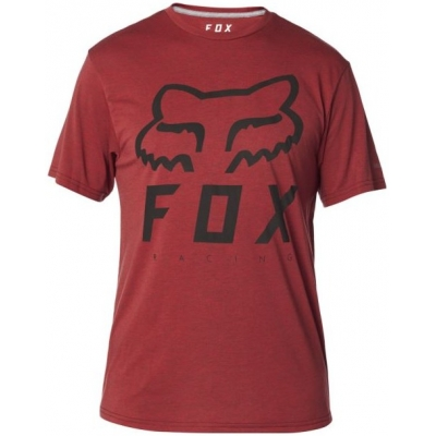 FOX triko HERITAGE FORGER SS Tech heather red