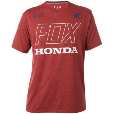 FOX tričko HONDA SS Tech dark red