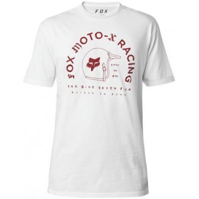 FOX triko FIFTY SS Premium optic white
