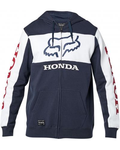 FOX mikina HONDA Fleece Zip navy/white