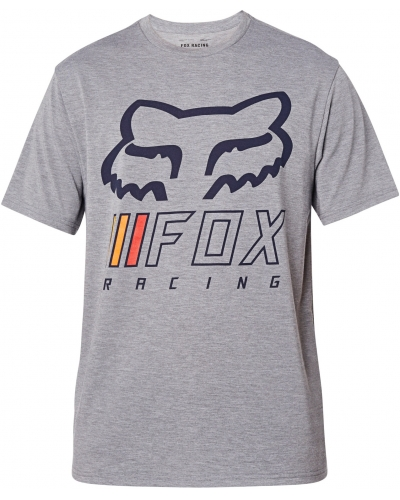 FOX triko OVERHAUL SS Tech heather graphite