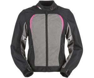FURYGAN bunda GENESIS MISTRAL EVO dámská black/grey/pink
