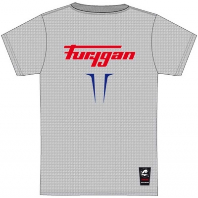 FURYGAN triko FLAMES heather grey / blue / white / red