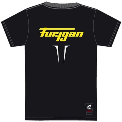FURYGAN triko FLAMES black/white/fluo yellow