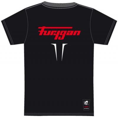 FURYGAN triko FLAMES black/white/red