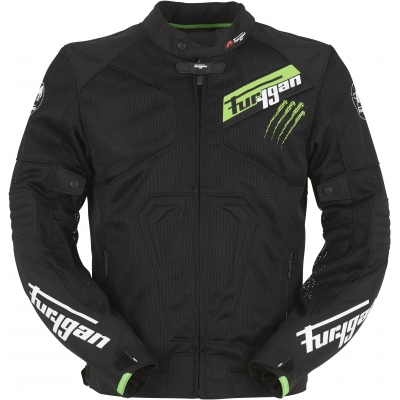 FURYGAN bunda HURRICANE VENTED black/fluo green