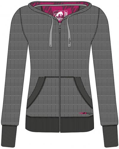 FURYGAN mikina AGATE dámská mottled grey/pink