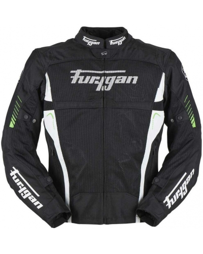 FURYGAN bunda SWIRL 3v1 VENTED black/white/green