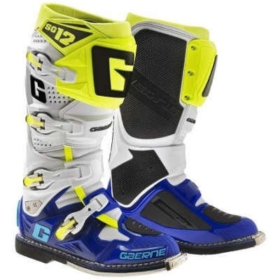 GAERNE boty SG-12 white/blue/yellow fluo