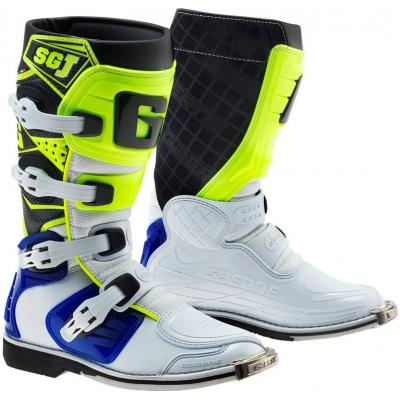 GAERNE boty SG-J dětské white/blue/yellow fluo