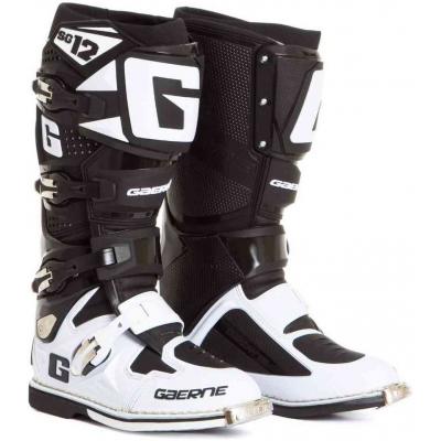 GAERNE topánky SG-12 black / white
