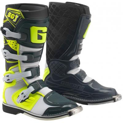 GAERNE boty SG-J dětské white/yellow/grey
