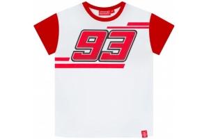 GP APPAREL triko MM93 HONDA Marquez dětské white/red